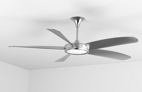silver-ceiling-fan